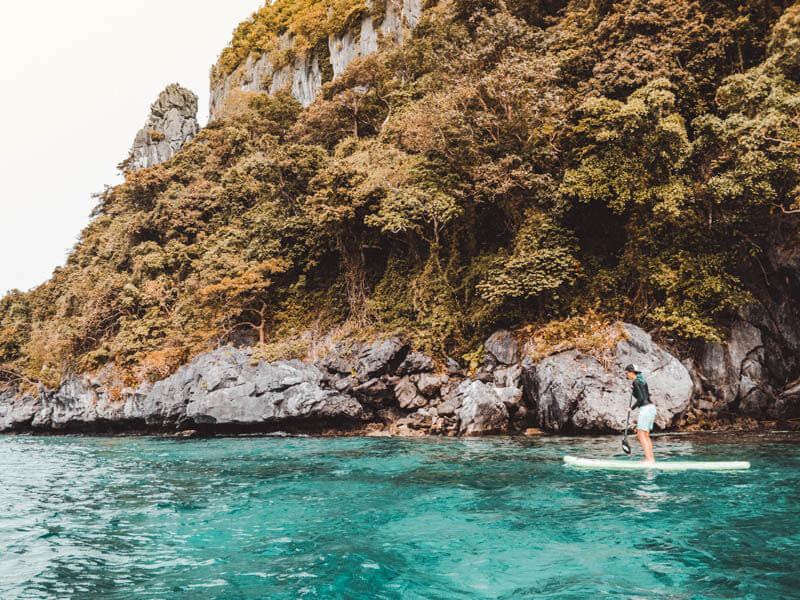 Suppen op het water in de Filipijnen