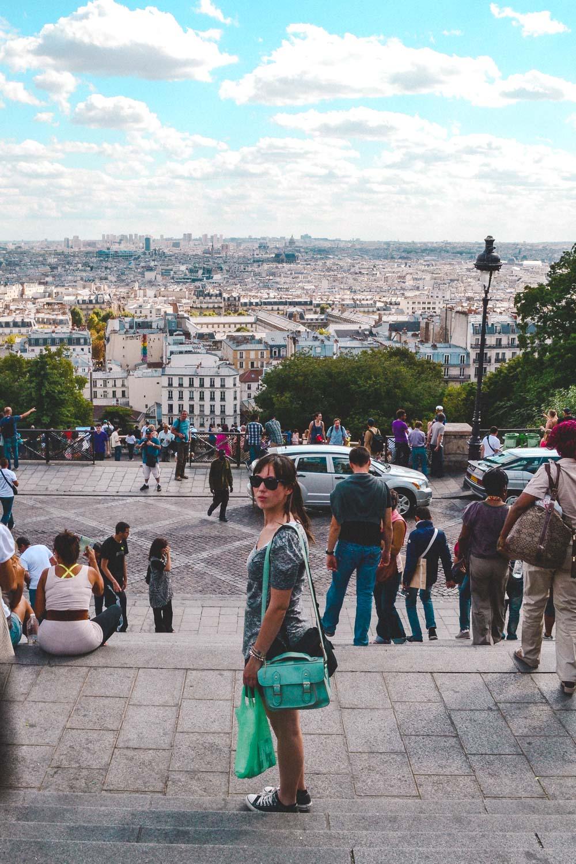 Uitzicht over de stad bij de Sacré-Cœur