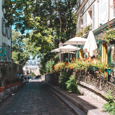 straatje in de wijk mont marte Parijs