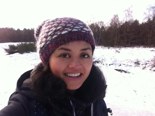 Diah in de sneeuw