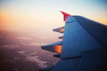 Uitzicht vliegtuig