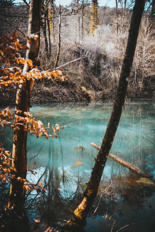 Helderblauw water Mullerthal