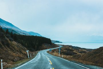 weg naar Mount Cook Nieuw Zeeland
