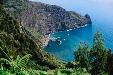 uitzicht op de zee van Madeira