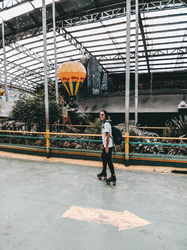 Rolschaatser in Baguio