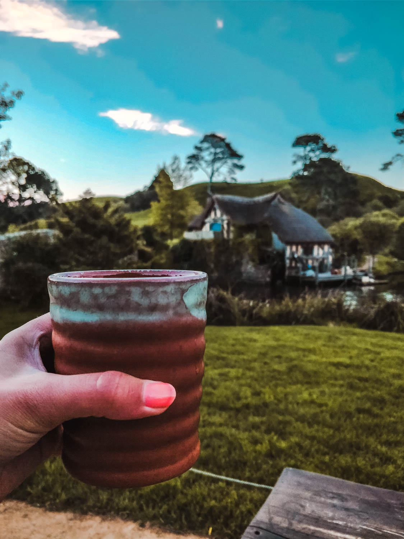 Bier in Hobbiton village
