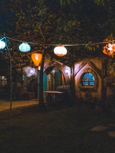 hobbiton Green Dragon in de avond