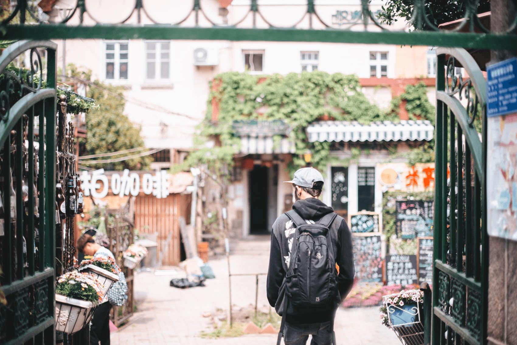 backpacker op wereldreis in China