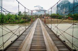 Brug in Laos