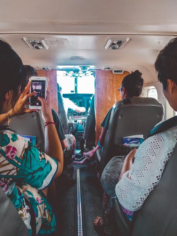 In Mokulele Airlines vliegtuig