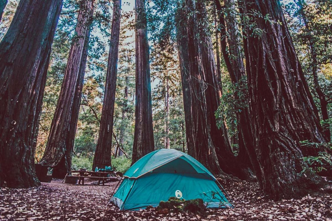 tent op kampeerplek Amerika