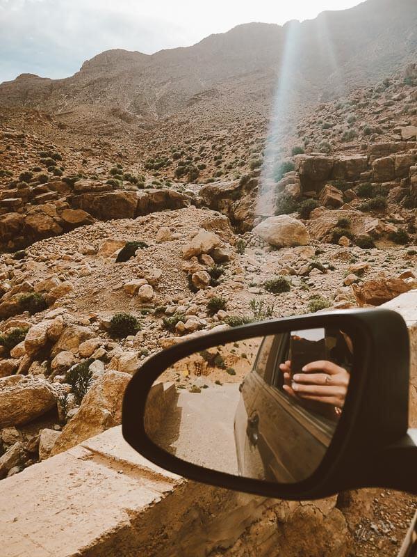 uitzicht vanuit auto Marokko