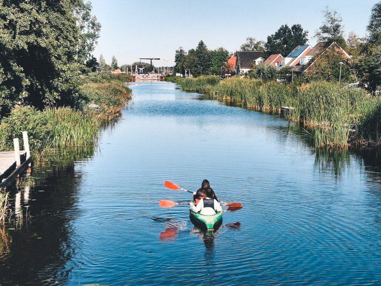 Kanoen in Friesland De Veenhoop