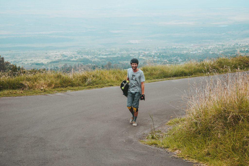 longboarder in maui