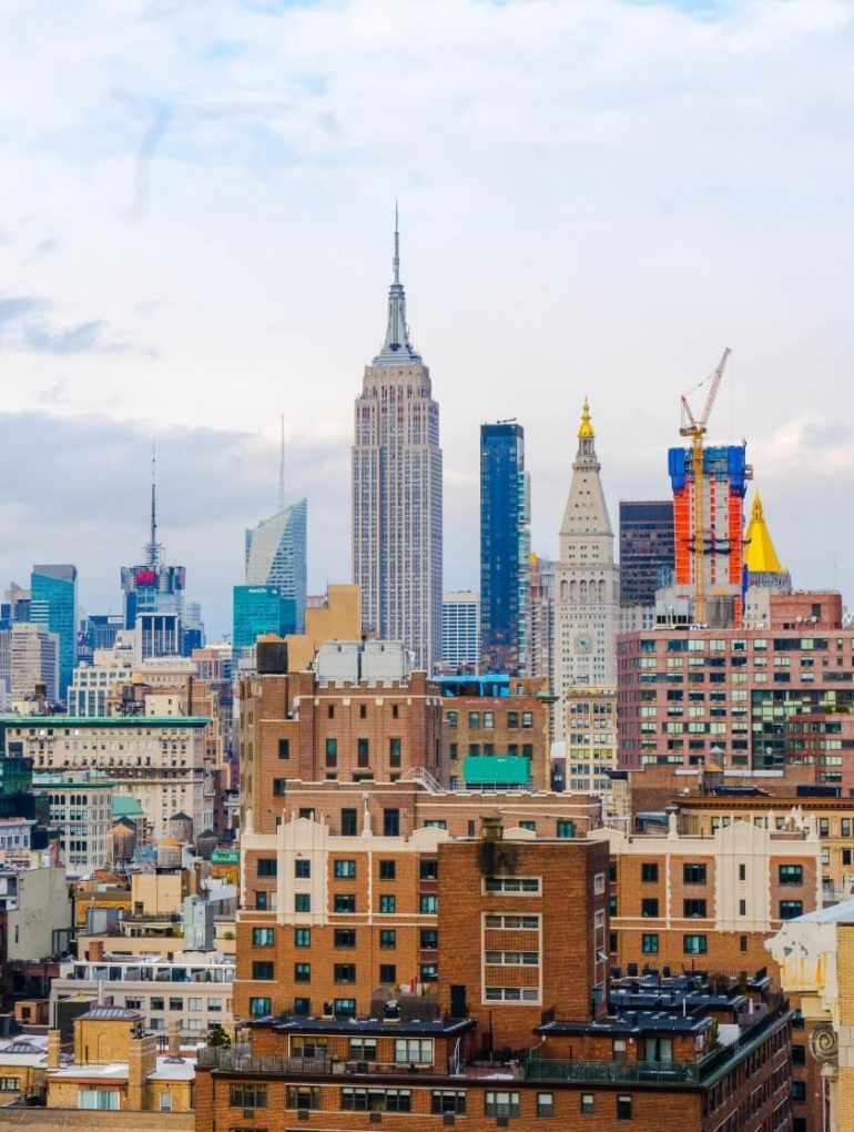 Hotels in New York en skyline