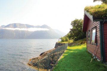 vakantiehuis aan fjord Noorwegen