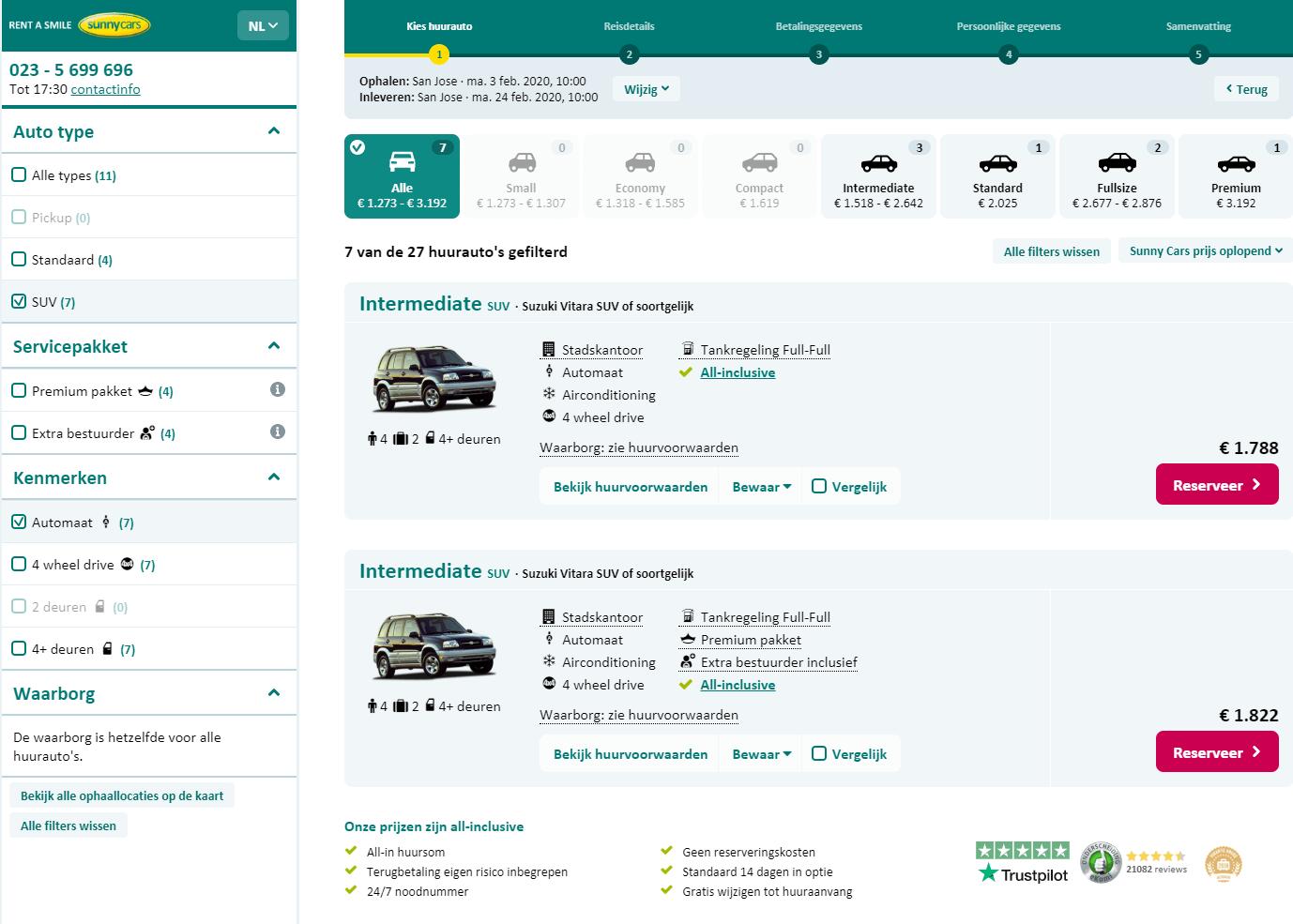 Sunny Cars Review screenshot website