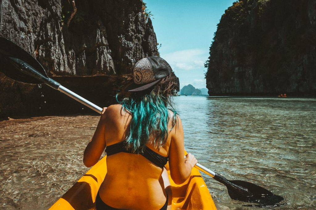 Kanoën in de filipijnen