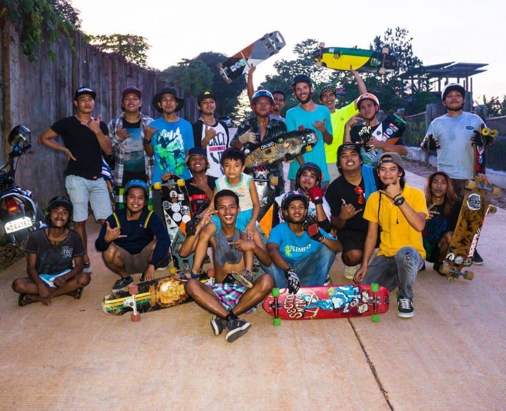 Longboard groep in de Filipijnen