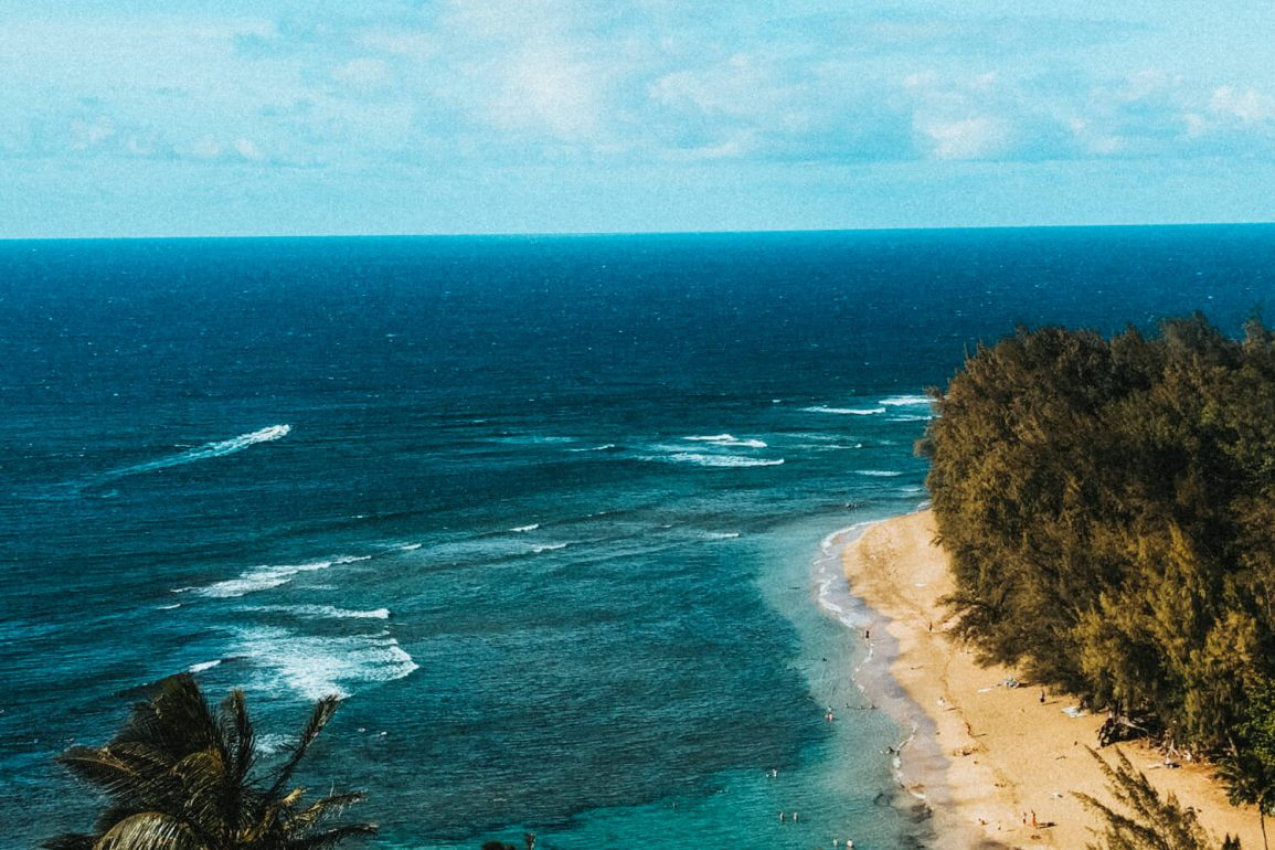 Uitzicht op de zee hawaii