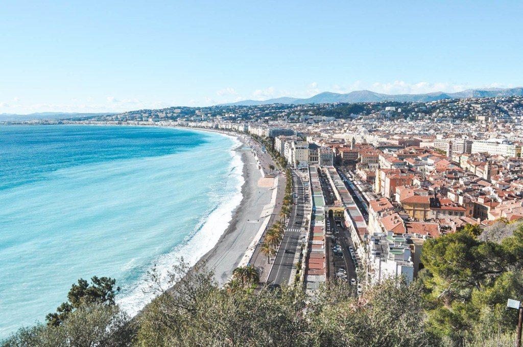 Uitzicht op de Zuid Franse kust