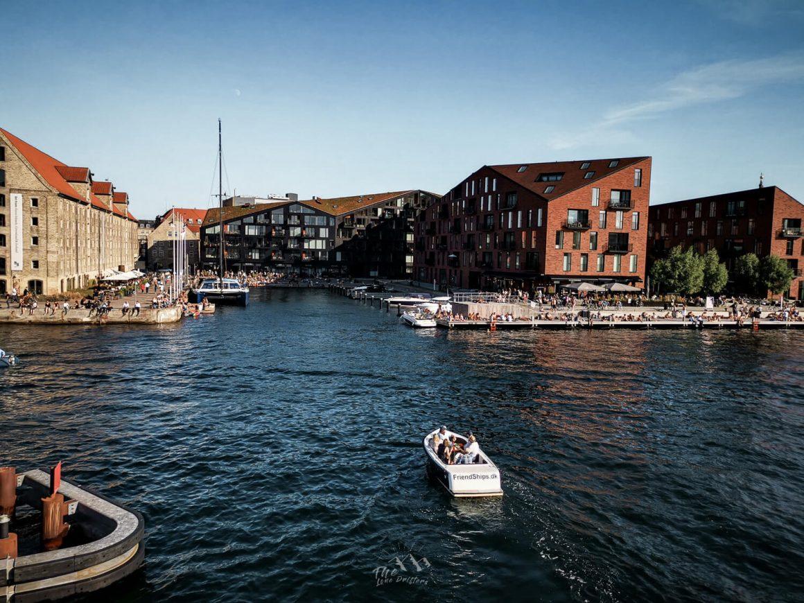 Christianshaven met boot Kopenhagen