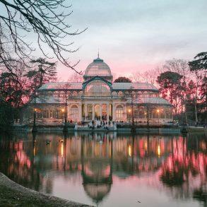 Palacio crystal zonsondergang