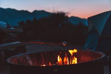 Vuurt in Amerika camping
