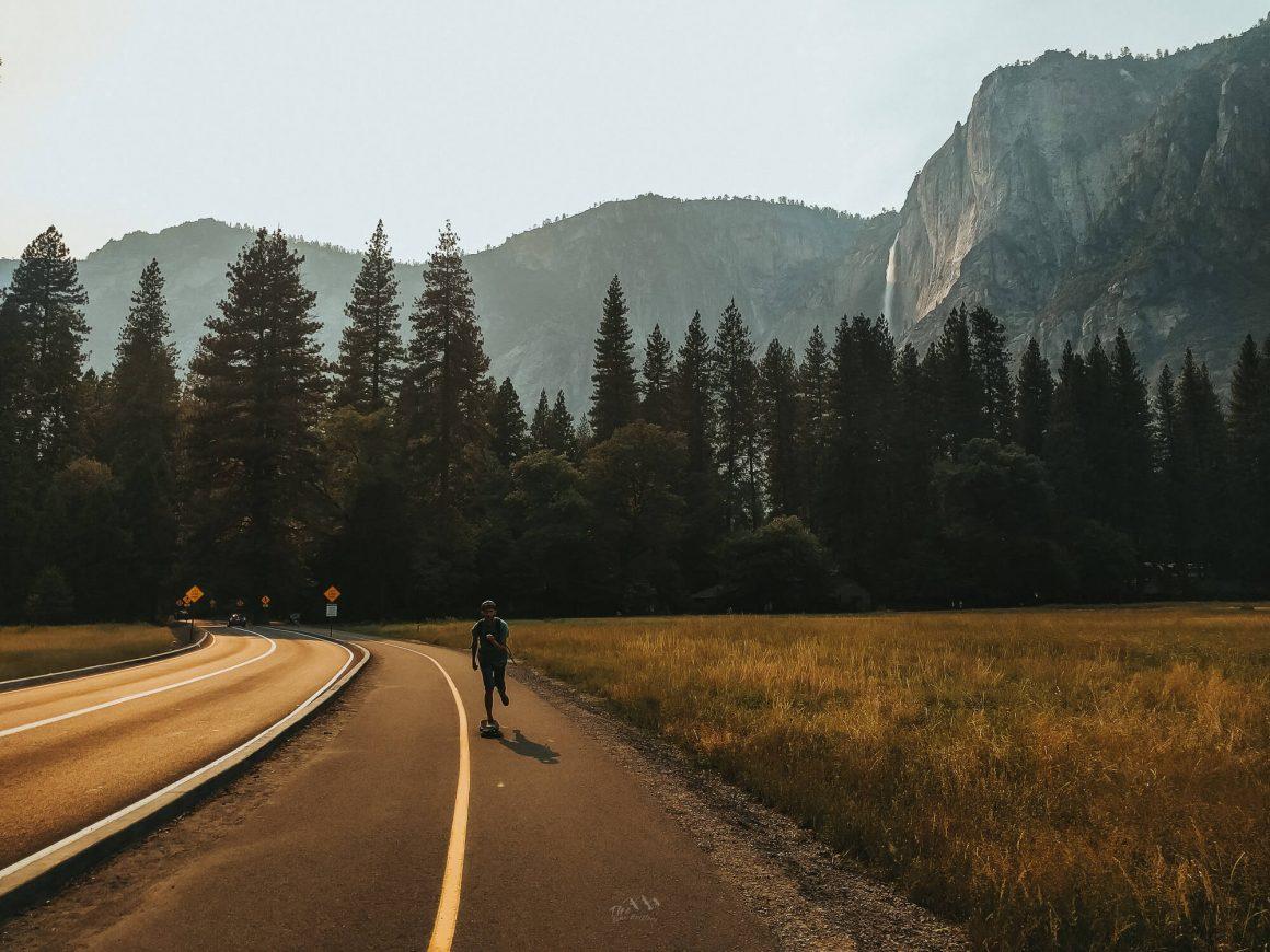 Kamperen Yosemite longboard