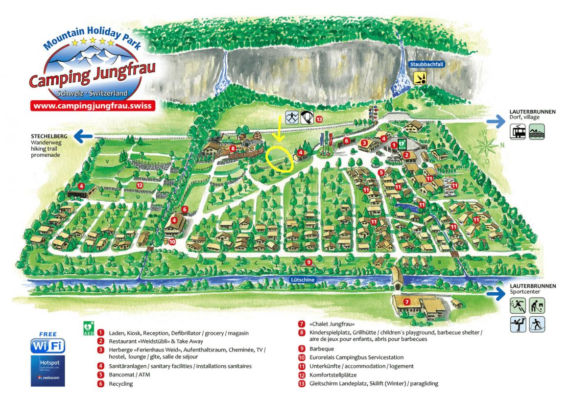 Plattegrond camping Jungfrau